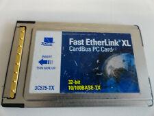 JJ7: 3Com Megahetz10/100 LAN Card Fast Ethernet PCMCIA 3C575-TX