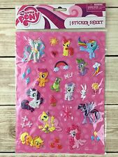 "My Little Pony 25 Puffy Stickers Friendship Is Magic MLP 3D Sheet Is 10"" New"