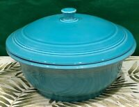 New  VINTAGE FIESTAWARE covered CASSEROLE Turquoise HOMER LAUGHLIN