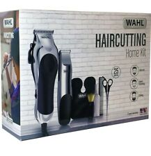 Wahl Deluxe Hair Clippers + Trimmer + Shears 25Pc Complete Hair Cutting Home Kit