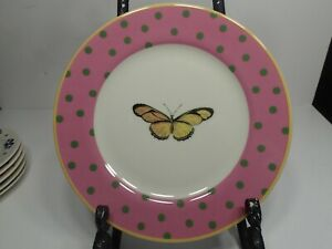 """Anthropologie 8.5"""" Polka dots and Butterfly plate in great condition!"""