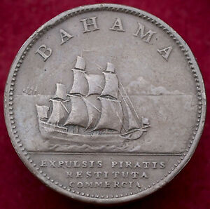 Bahama Penny 1806 - 'Pirates Expelled Trade Restored' (H2708)