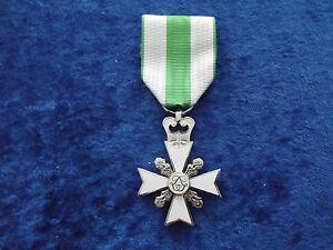 ^A24-016  Belgisches Medal Fire-Brigade Cross 2nd Class - silver Feuerwehr