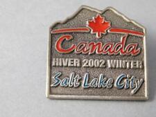 CANADA 2002 WINTER OLYMPICS SALT LAKE CITY FINE PEWTER PIN SOUVENIR BUTTON
