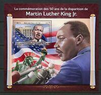DJIBOUTI 2018 50th MEMORIAL OF MARTIN LUTHER KING, JR. SOUVENIR SHEET MINT NH