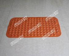 Orange Large Strong Suction Anti Non Slip Bath Shower Mat - Foot Massage
