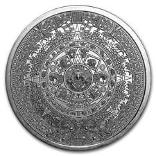 USA Aztec Calendar Aztekischer Azteken Kalender 1 oz 999 Silber Silver Round