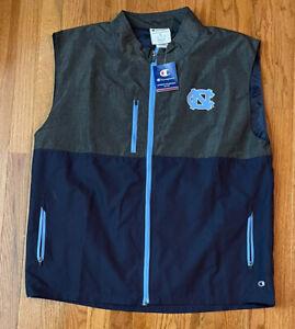 Men's UNC North Carolina Tar Heels Champion Full Zip Vest Jacket NWT XL