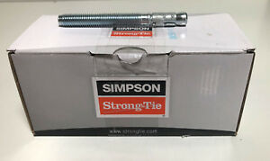 """Box of 25 Simpson Strong Bolt 2 Wedge Anchors 1/2"""" x 4 3/4"""" STB2-50434"""