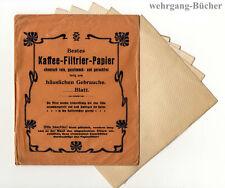 Original Verkaufspackung Kaffee-Filtrier-Papier um 1920