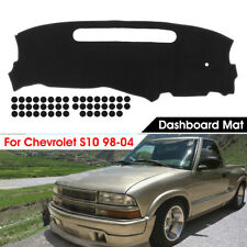 Dashmat Dash Board Dashboard Mat Pad Cover Black For Chevrolet S10 1998-2004