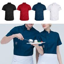Unisex Chef Apparel Short Sleeve Chef Jacket Coat Restaurant Cooker Uniforms