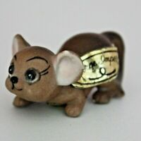 RARE Vintage Josef / George Originals MOUSE Miniature Mini Figurine with Labels