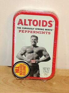 Vintage Altoids Limited Edition Strong Man Peppermint Mints in Sealed Tin