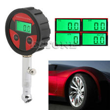 Motorcycle Car Truck Bike 200 PSI LCD Digital Tire Tyre Air Pressure Gauge Metet