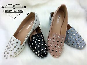 Footwear Sale Women Shoes Low Heels Flats Shoes pointed toe Studded Shoes Size