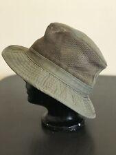 """Woolrich Cotton Hat Olive Green Size Medium ( 55 cm/21.5"""") Mesh Insert"""