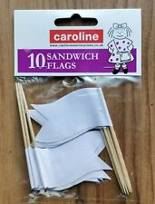 Sandwich Flags, Party Cup Cake Labels, Paper on Cocktail Stick, Pack 10 Caroline