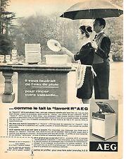 PUBLICITE  1966   AEG    lave vaisselle