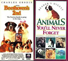 Beethoven's 2nd (VHS, 1994) & Animals You'll Never Forget (VHS, 1994)