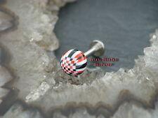 Piercing labrets Psychedelic pelota 1,6mm labios piercing