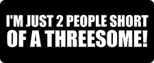 3 - I'm Just 2 People Short Hard Hat / Biker Helmet Sticker BS 1225
