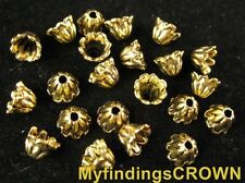 250 Pcs Antiqued gold Flower bead caps FC600