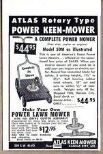 1952 Vintage Ad Atlas Rotary Keen-Mower Lawn Mowers Kansas City,MO