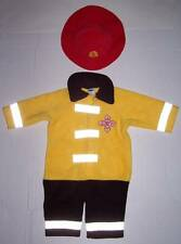 OLD NAVY FIRE CHIEF COSTUME WITH HAT 3 6 MO HALLOWEEN FIREMAN FIREFIGHTER