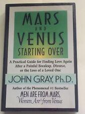 JOHN GRAY SIGNED Mars and Venus Starting Over 1998 BOOK