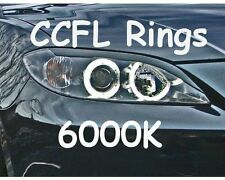 CCFL XENON ANGEL EYES HALO RINGS 6000K fit Mazda 3