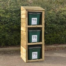 More details for recycling bin store for 3 bins with 3 free personalised address labels