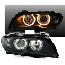 2 PHARES ANGEL EYES BMW SERIE 3 E46 COUPE & CABRIOLET NOIR 4/2003-05/2006