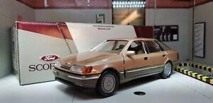 1:24 Modello Ford Granada Scorpio Ghia Marrone Oro Schabak Modellino 1:25 Raro!
