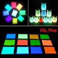 1 bag luminous Fluorescent Super Bright Glow in the Dark Powder Glow Pigment DIY