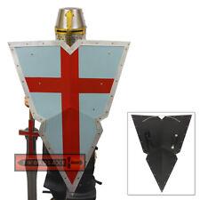 Viking Knights Holy Crusader Steel Kite Shield Medieval Templar Metal Heater