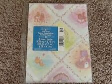 AMERICAN GREETINGS-FORGET ME NOT-BABY SHOWER WRAPPING PAPER vintage NIP Bunnies