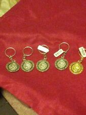 Lot Of Mini Silver Dollar Keychains (5)
