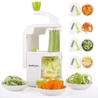Vegetable Veggie Spiralizer Spiral Slicer Cutter with 4 Blades NEW