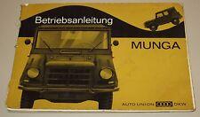 Betriebsanleitung DKW Auto Union Munga Bedienungsanleitung Handbuch 09/1965!