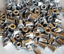 100 Pcs 6-32 Rivet Nut Aluminum  knurled Nutserts  Rivnut Nutsert SAE Standard