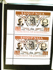 Stamps Albania 1952 issue double overprint mint Kennedy memorial issue