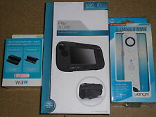 NINTENDO WII U WIRELESS REMOTE GAMEPAD PLAY GRIP CASE OFFICIAL CRADLE STAND NEW!