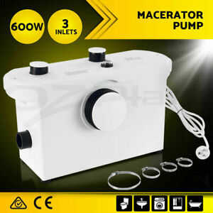 600W Genuine commercial Macerator Sewerage Pump 300L automatic Toilet Disposal