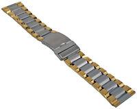 Edelstahl Uhrenarmband BiColor Metallband mit Faltschliesse 20-28mm Armband 1