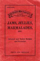 1937 Australian RECIPES 117 JAMS JELLIES & MARMALADES sent ZIP FILE ZERO POSTAGE