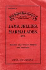 1937 Australian RECIPES 117 JAMS JELLIES & MARMALADES sent ZIP FILE ZERO POSTAGE