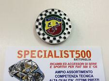FIAT   500 -126  FREGIO SMALTATO ROTONDO ABARTH A SCACCHI
