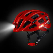 RockBros Road Bike Night Ultralight Red Helmet USB Recharge Size 57-62CM Helmet