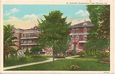 St. Patrick's Sanitarium in Lake Charles LA Postcard